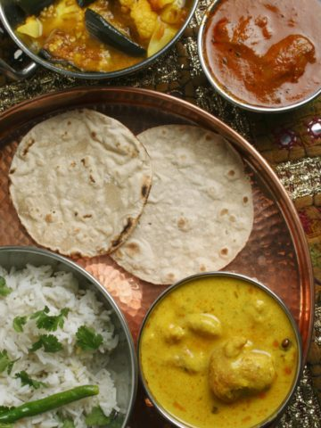 Dishes that are part of Indian Vegetarian diet