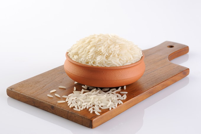 basmati rice grains