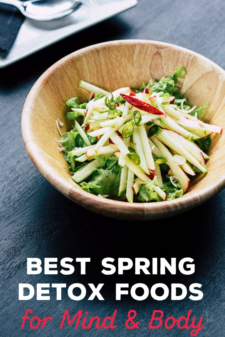 The spring season presents an opportunity to improve health naturally by consuming more spring detox foods according to nature's prescriptions. #spring #detox #butteredveg