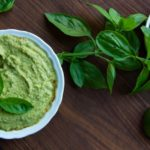 healthy basil lime hummus