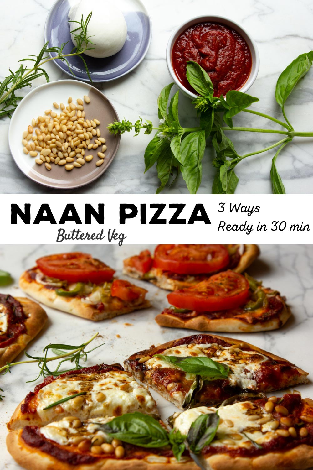 Naan Pizzas, Three Ways (30 Minute Dinner)