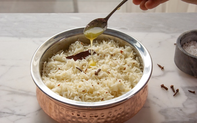 Cumin rice with ghee