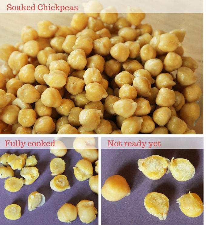 cooked chickpea test