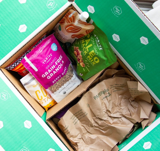 Thrive market snacks in a box