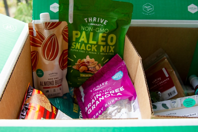 Thrive market products in a box