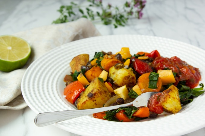 A plate of vegetable hash