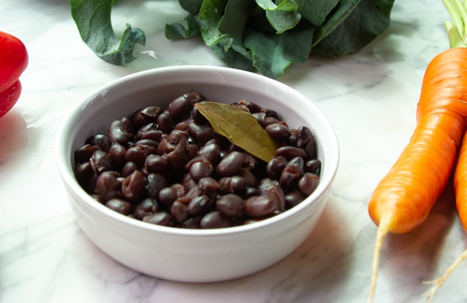 black beans for vegetable hash