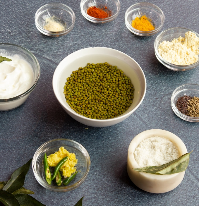 ingredients for mung bean dal