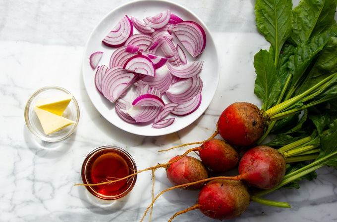 ingredients for roasted beets