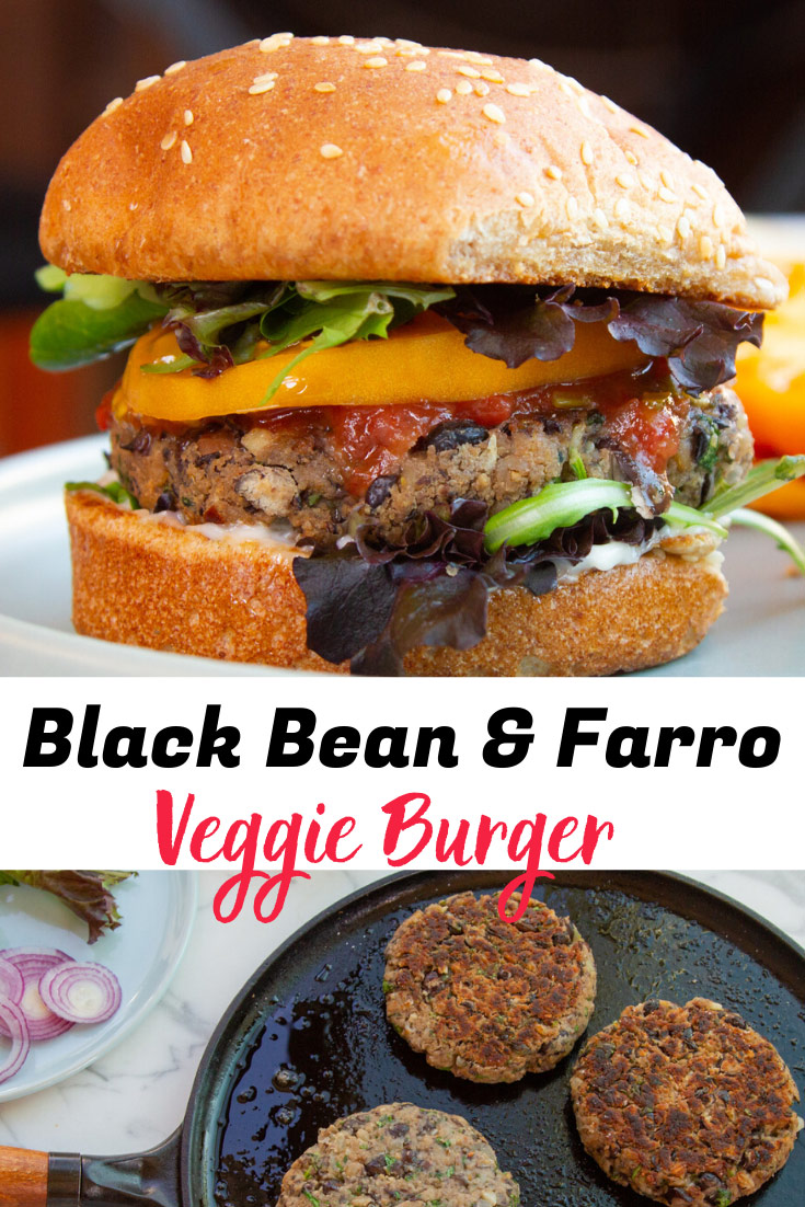 Best Vegan Black Bean & Farro Burger