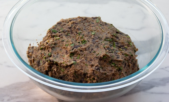 The black bean burger patty mix