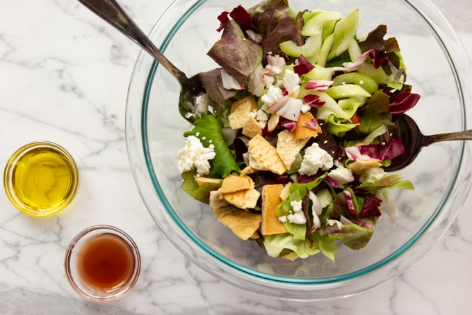 winter salad with feta cheese