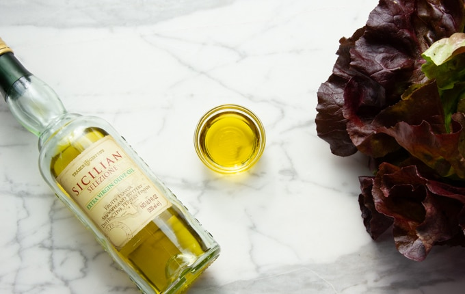 olive oil as a quality salad topping