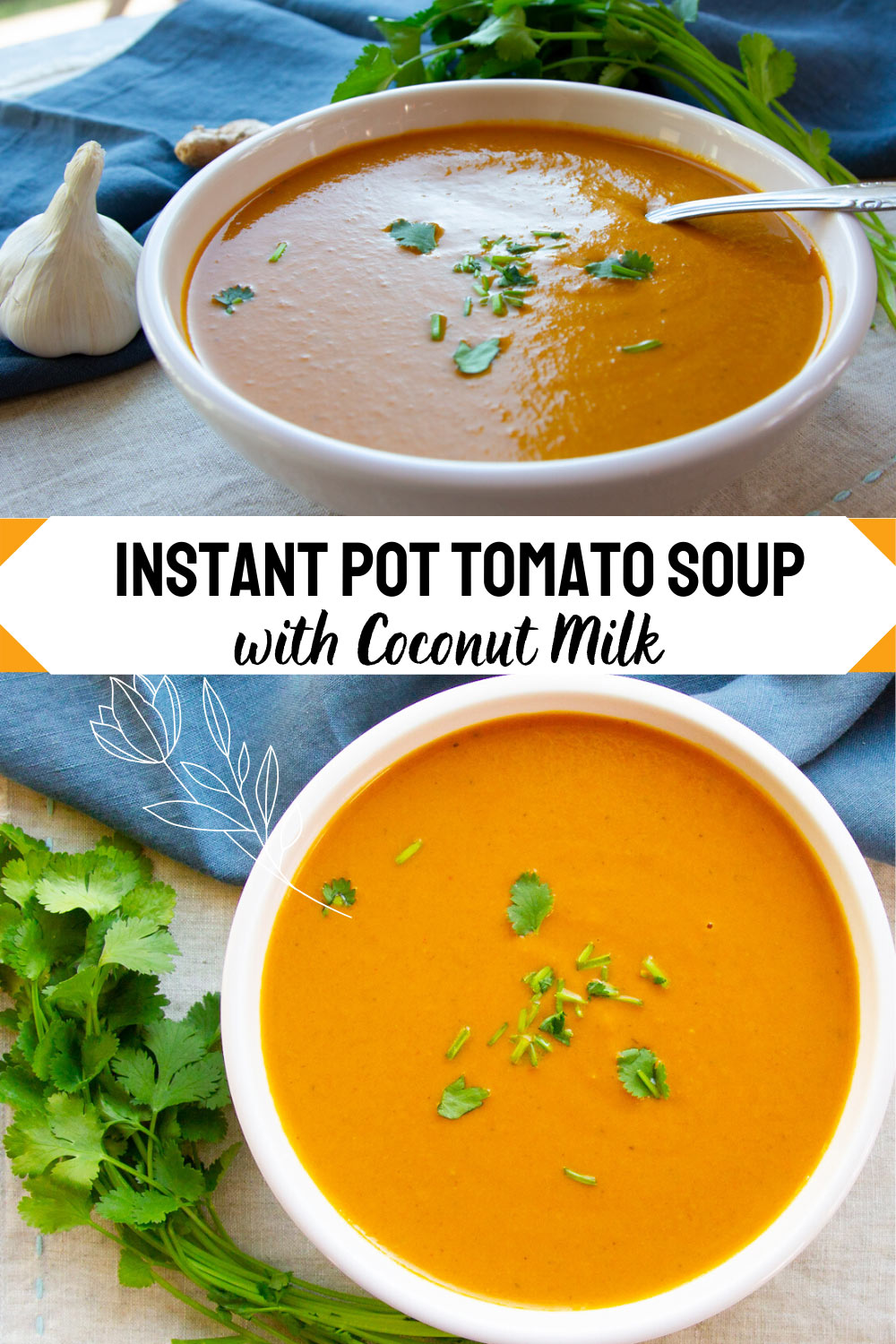 Instant Pot Tomato Soup With Coconut Milk