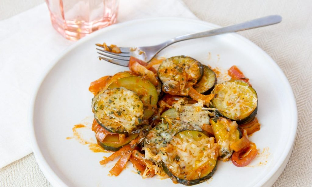 sauteed zucchini on a plate