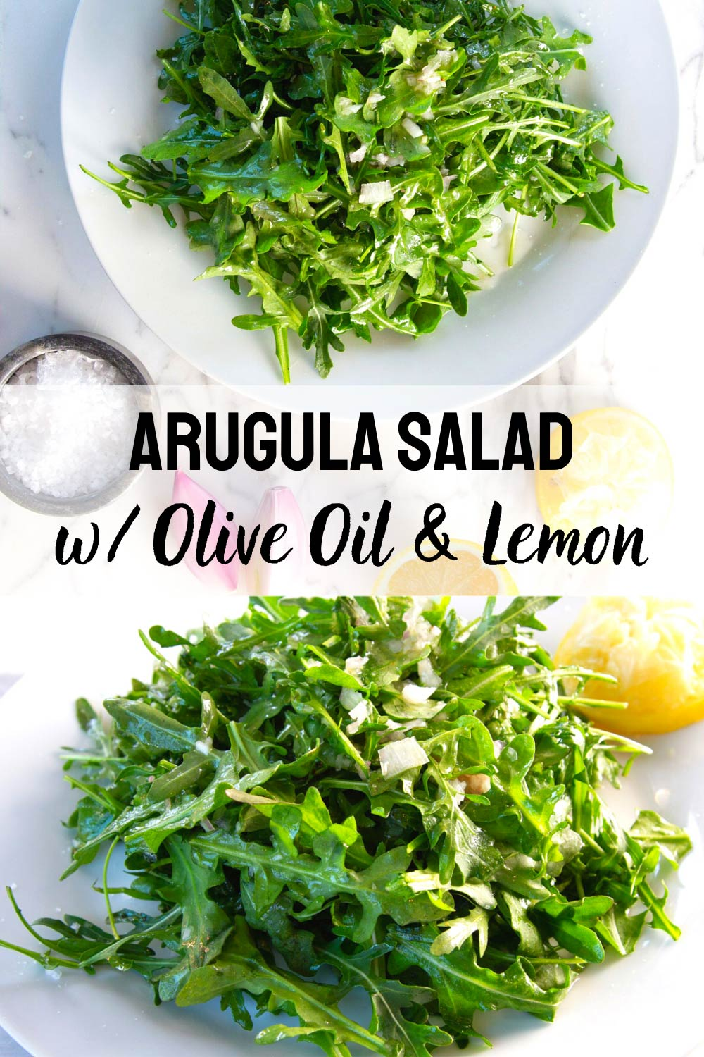 Arugula Salad With Lemon & Olive Oil
