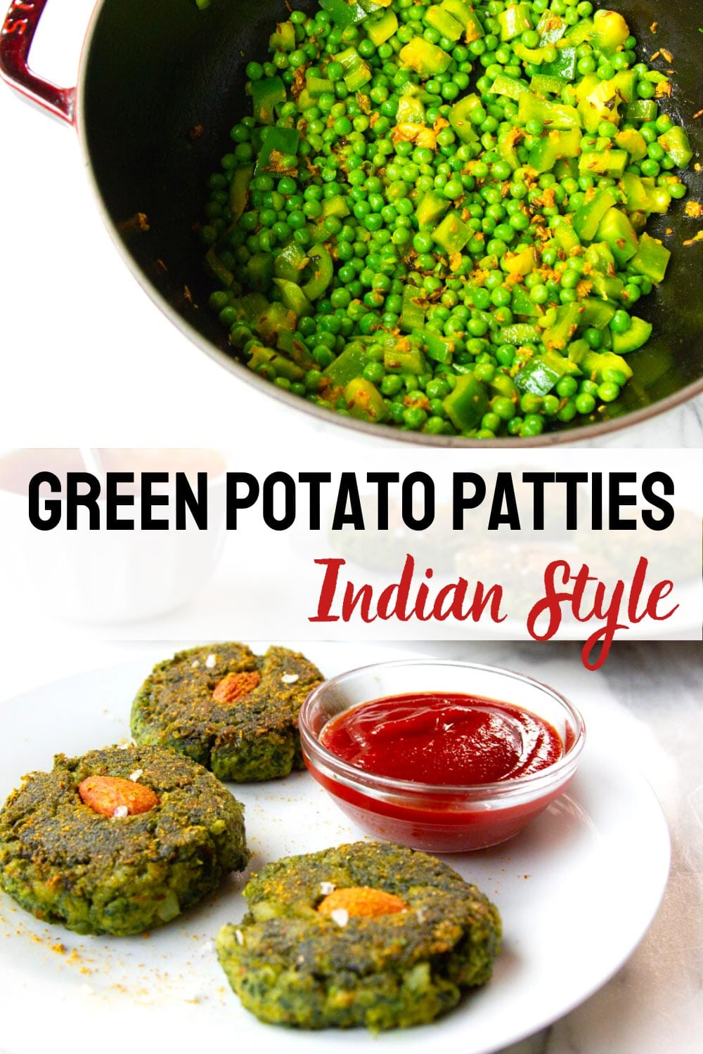 Potato Patties Filled With Greens (Hara Bhara Kabab)
