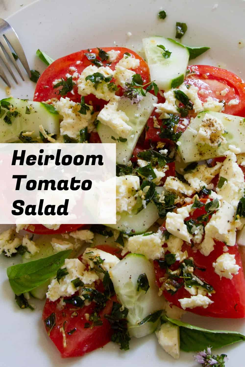 Quick Heirloom Tomato Salad, With Feta & Crispy Oregano